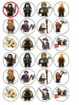 24 x Lego Hobbit Edible Wafer Rice Paper Cupcake Top Toppers